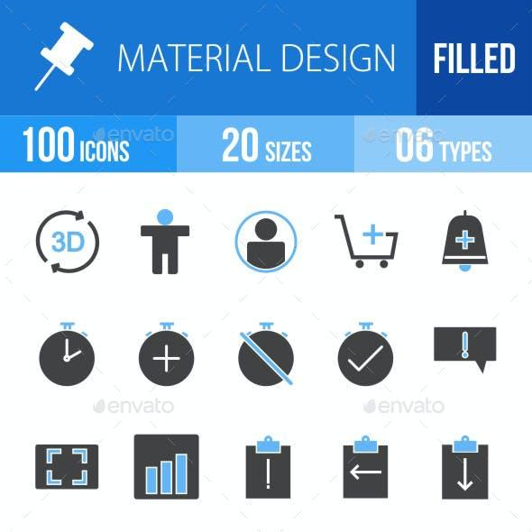 Material Design Blue & Black Icons