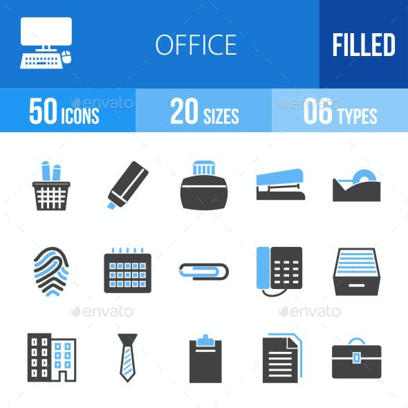 Office Blue & Black Icons