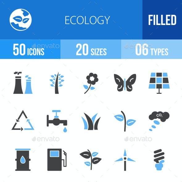 Ecology Blue & Black Icons
