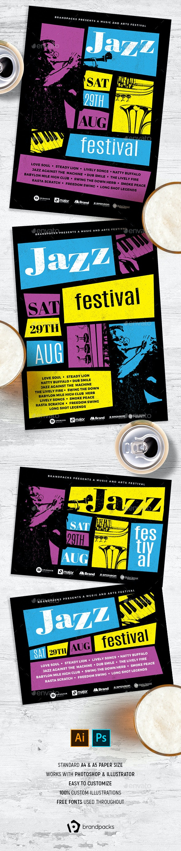 Jazz Flyer / Poster - Clubs & Parties Events