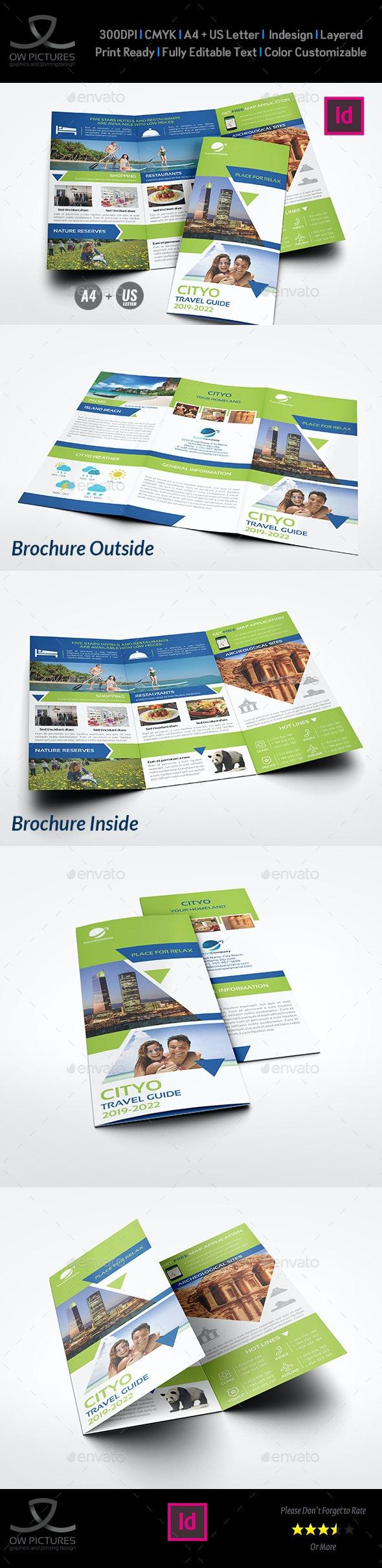 Travel Guide Tri Fold Brochure Template - Brochures Print Templates