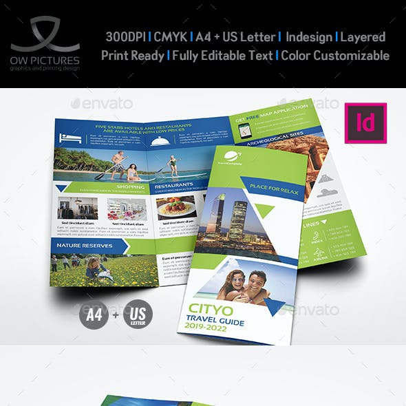Travel Guide Tri Fold Brochure Template