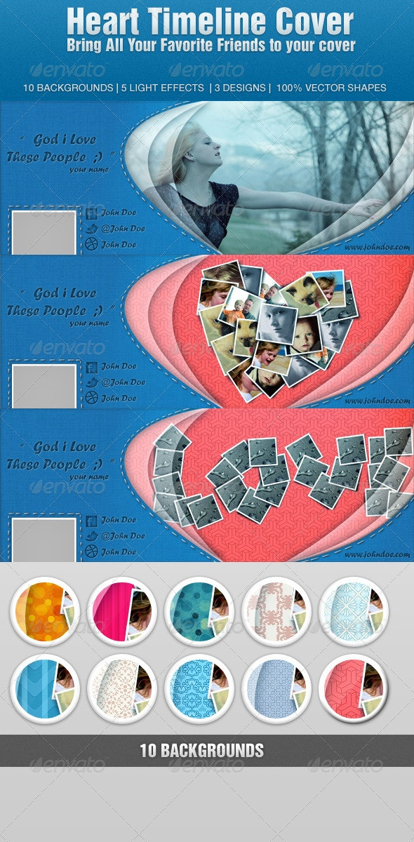 Heart Timeline Cover - Facebook Timeline Covers Social Media