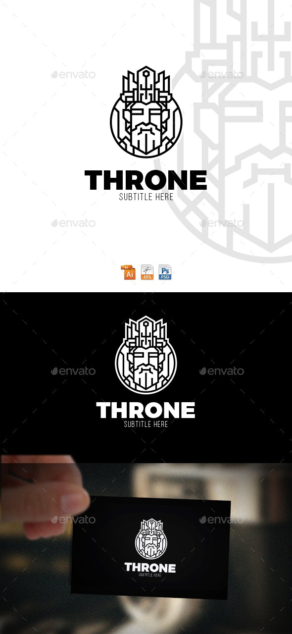 King Throne Logo - Humans Logo Templates