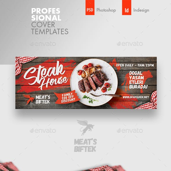 Steak House Cover Templates