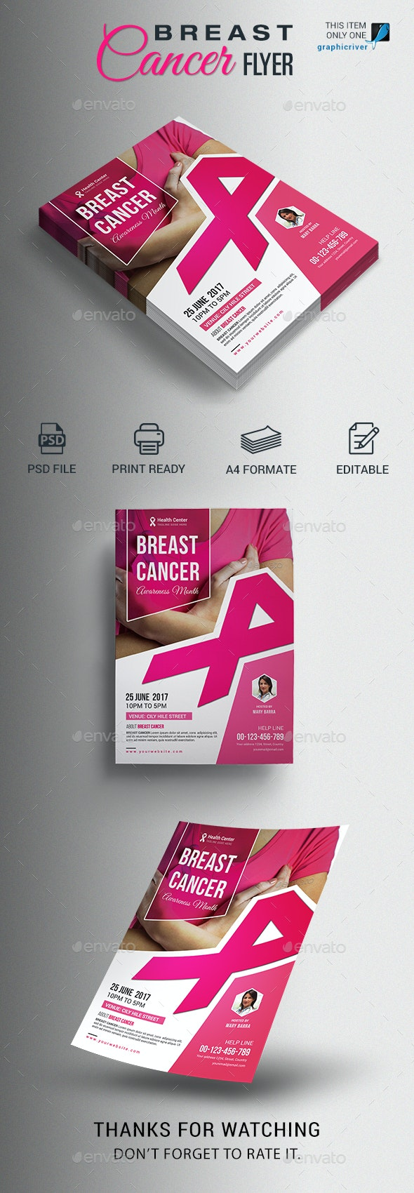 Breast Cancer Flyer - Events Flyers