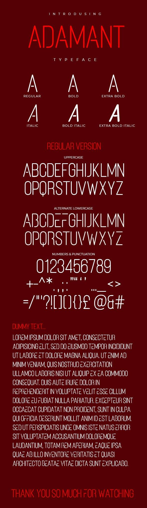 Adamant Typeface - Condensed Sans-Serif