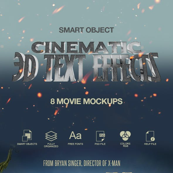 3D Text Effect / Cinematic 3D Text Effect