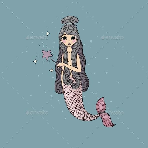 Cartoon Little Mermaid - Animals Characters