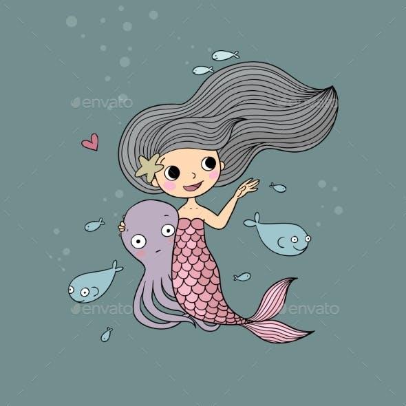 Cartoon Little Mermaid