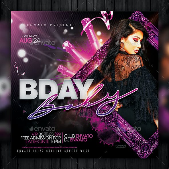 Birthday Baby Flyer Template