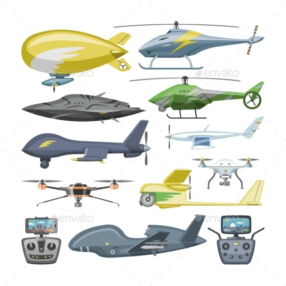 Helicopter Vector Copter Aircraft or Rotor Plane - Man-made Objects Objects