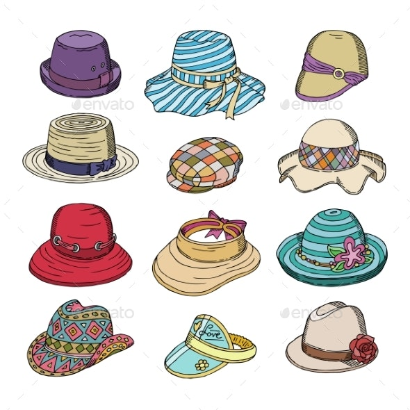 Woman Hat Vector Fashion Clothing - Man-made Objects Objects