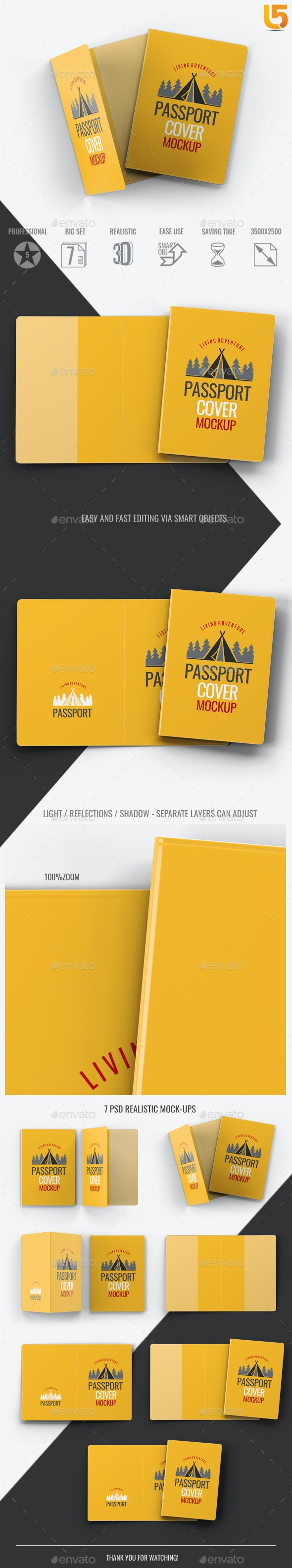 Passport Cover Mock-Up - Miscellaneous Print