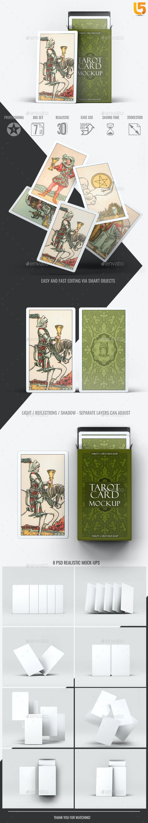 Tarot Card Mock-Up - Miscellaneous Print