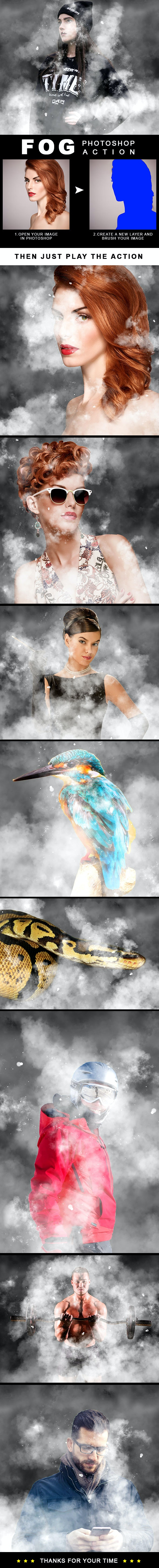Fog Effect Photoshop Action - Photo Effects Actions