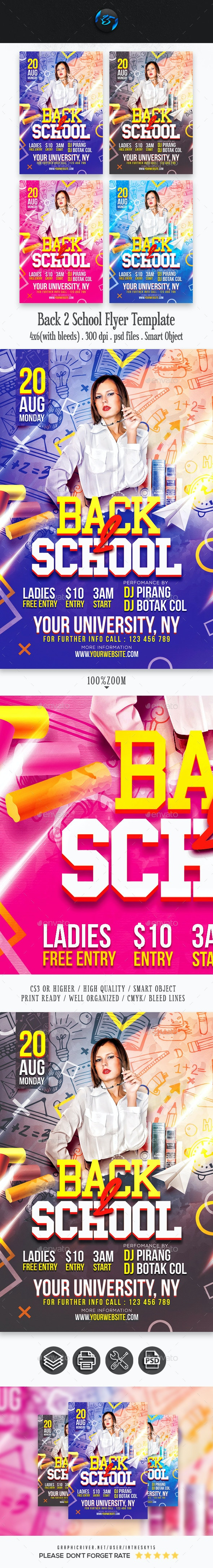 Back 2 School Flyer Template - Events Flyers