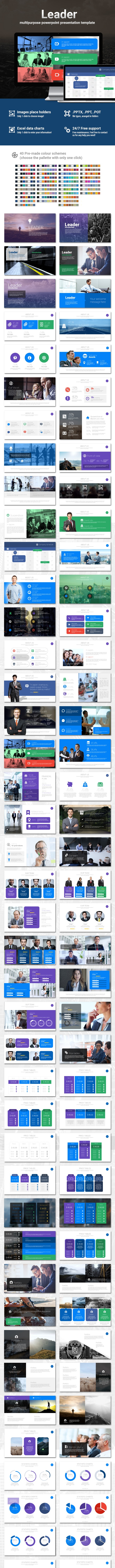 Leader Powerpoint Presentation Template - Business PowerPoint Templates