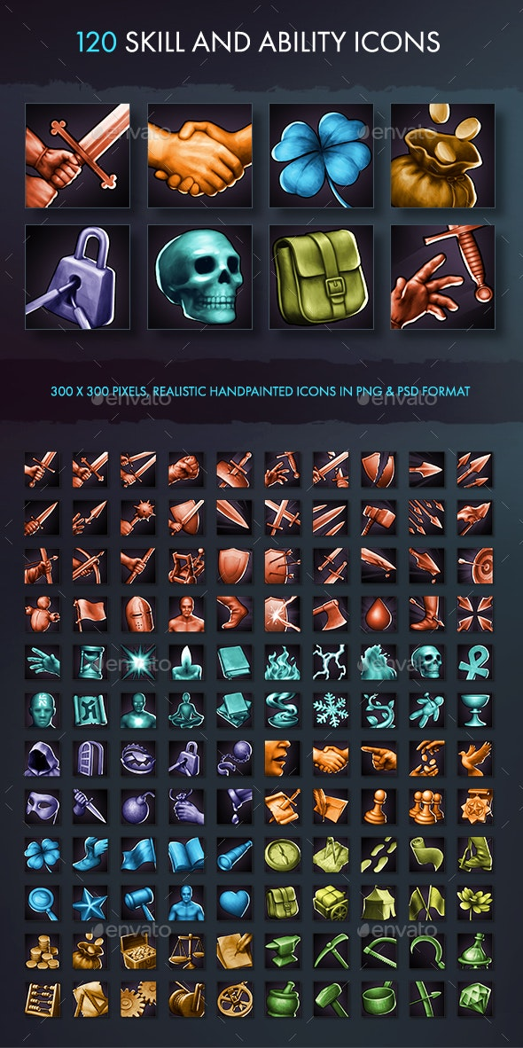 Skill and Ability Icons - Miscellaneous Game Assets