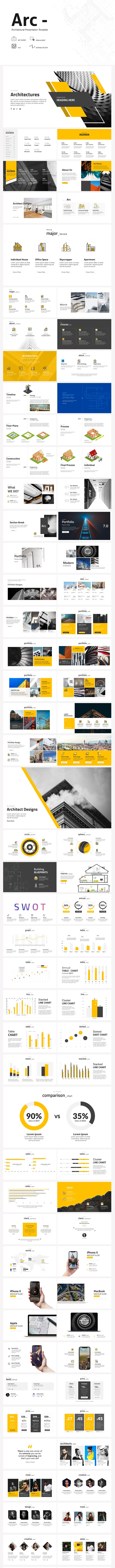 Arc - Architecture Google Slides - Google Slides Presentation Templates
