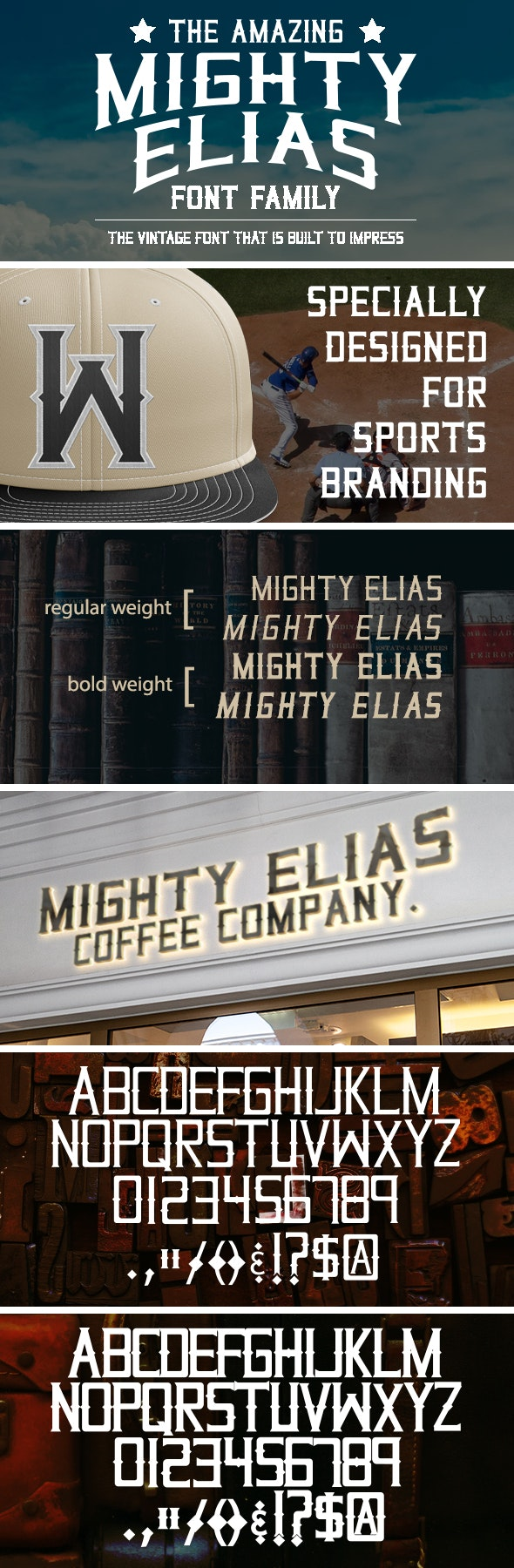 Mighty Elias Vintage Font Family - Serif Fonts