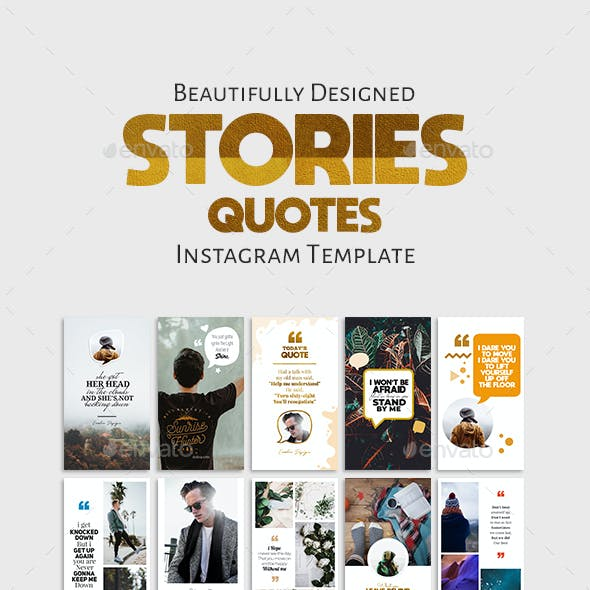 Stories Quotes Template