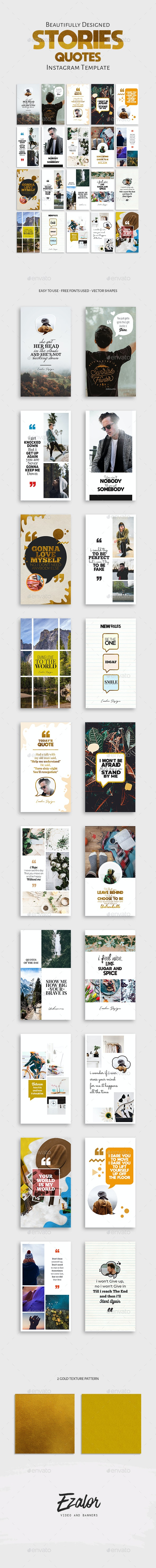 Stories Quotes Template - Social Media Web Elements