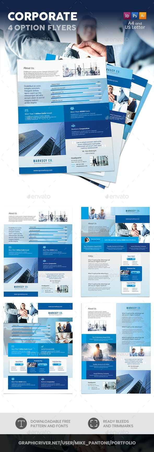 Corporate Flyers 6 – 4 Options - Corporate Flyers