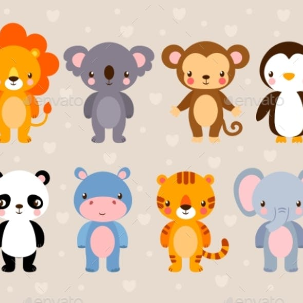 Vector Set with Animals