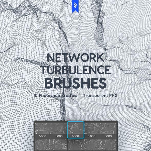 Digital Network Turbulence Photoshop Brushes