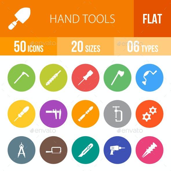 Hand Tools Flat Round Icons