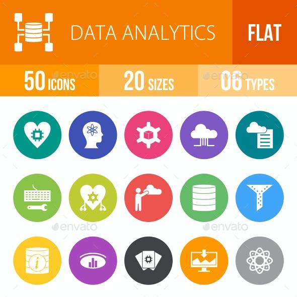 Data Analytics Flat Round Icons