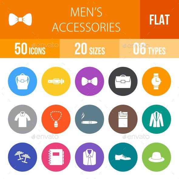 Men's Accessories Flat Round Icons