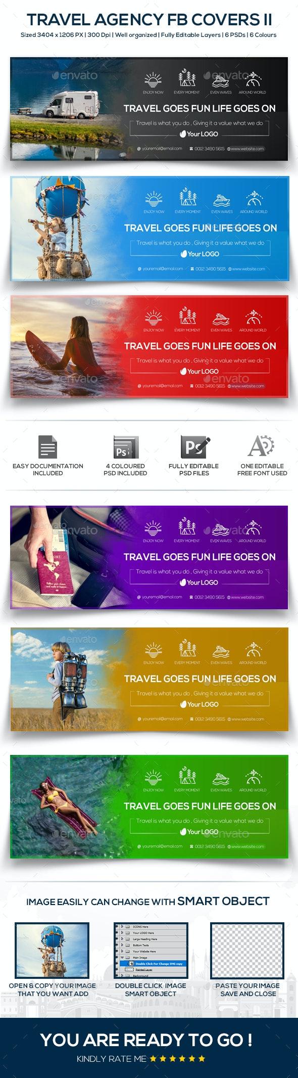 Travel Agency Facebook Covers II - Facebook Timeline Covers Social Media