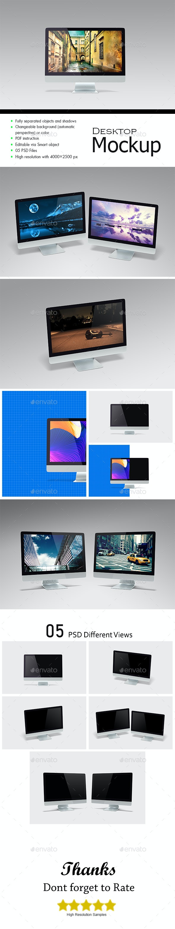 Responsive Monitor Mockup - Monitors Displays