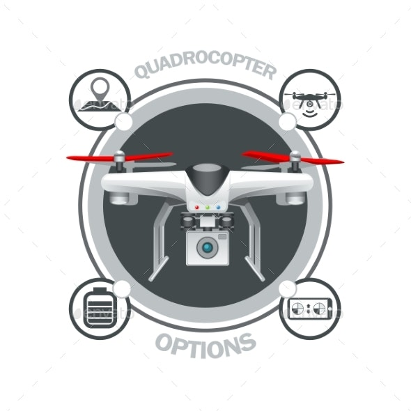 Drone Quadrocopter Options - Miscellaneous Vectors