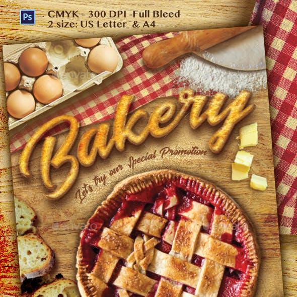 Bread Bakery Promotion Flyer Template