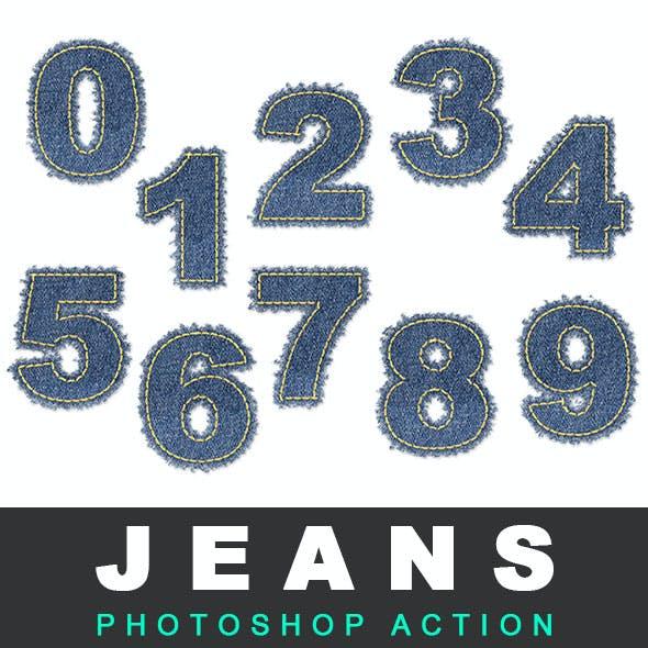 Jeans Text / Shape Photoshop Action