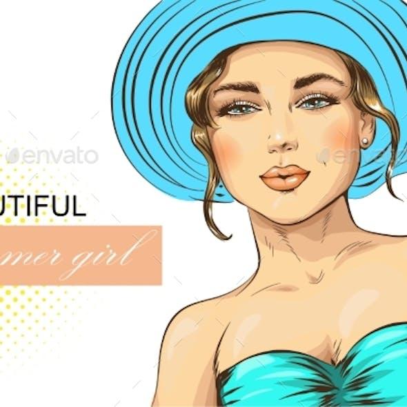 Portrait of a Woman in Summer Hat