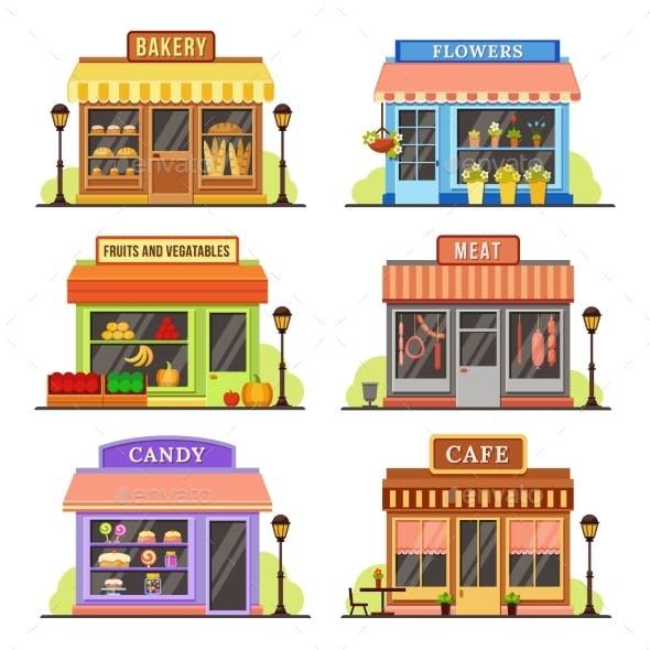 Flat Store Modern Shops