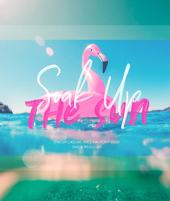 Soak Up The Sun Font Duo + SVG - Hand-writing Script