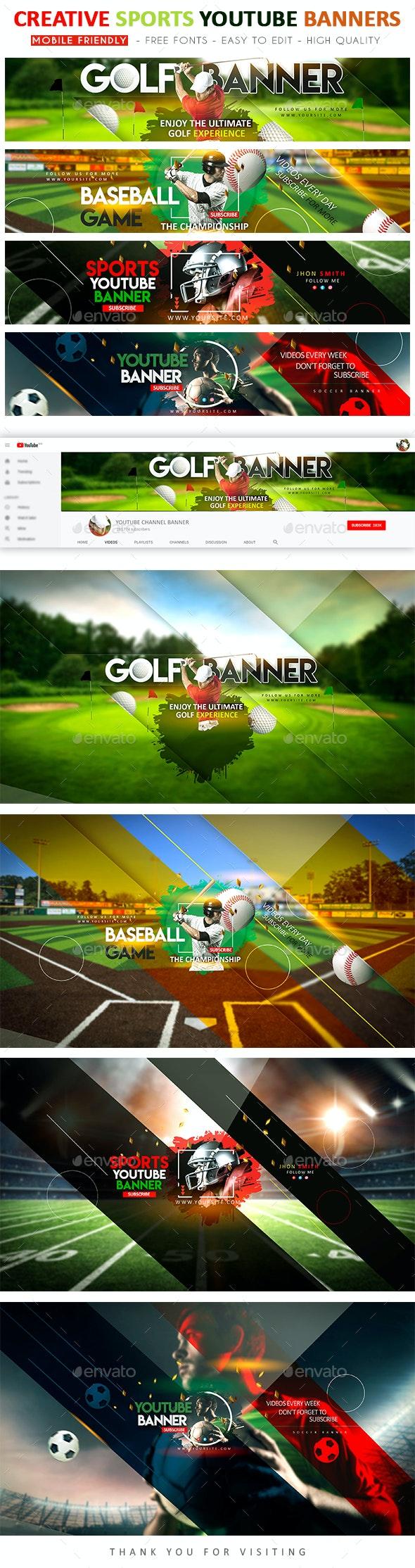Multipurpose Sports YouTube Banners - YouTube Social Media