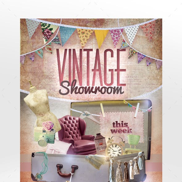 Vintage Showroom Flyer Template