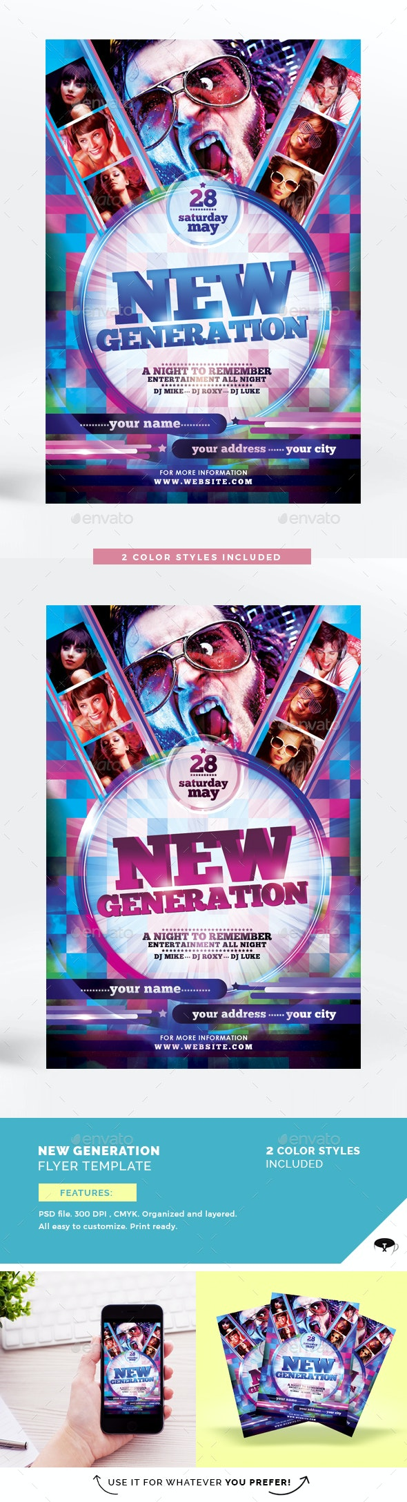New Generation Flyer Template - Clubs & Parties Events