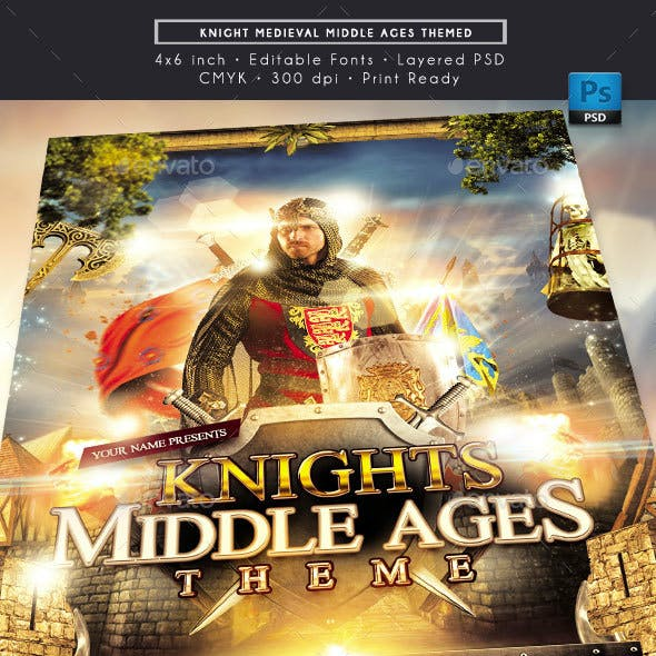 Knights Medieval Middle Ages Themed Flyer