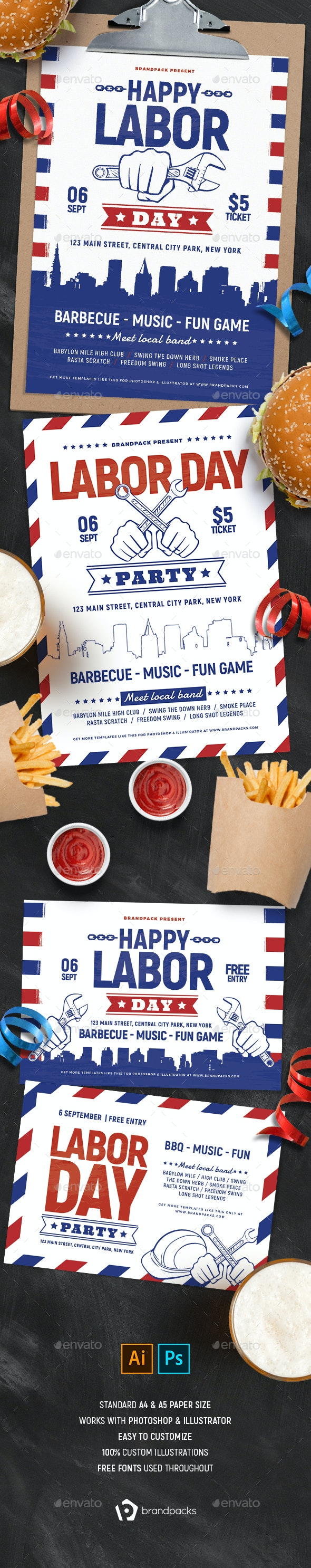 Labor Day Flyer Templates - Holidays Events