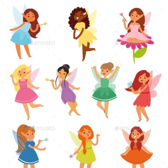 Fairy Girl Vectors