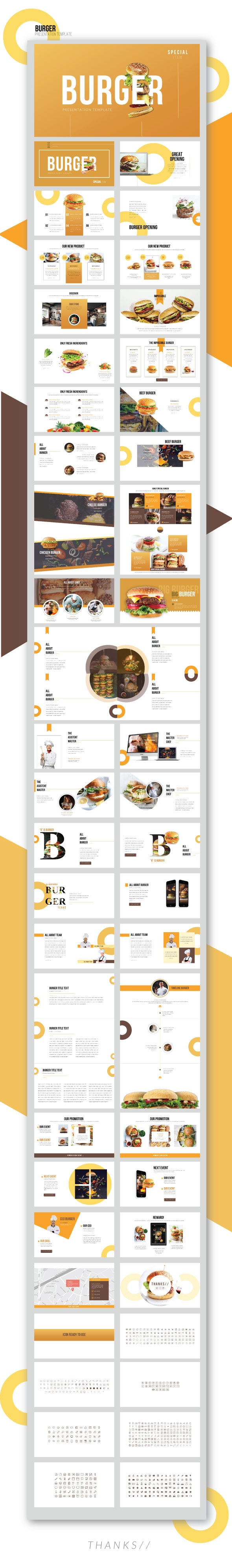 Special Burger - Presentation Template - Business PowerPoint Templates