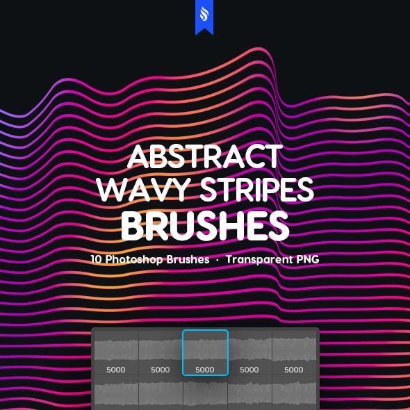 Wavy Stripes Photoshop Brushes