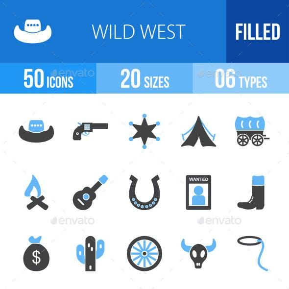 Wild West Blue & Black Icons